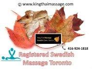 Registered Swedish massage Toronto | On Offer in Toronto