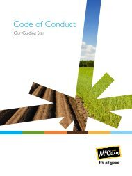 Code of Conduct - McCain Foods Limited