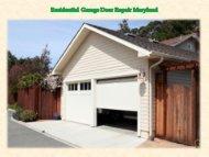 Residential Garage Door Repair Maryland