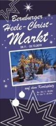 Veranstaltungsübersicht Weihnachtsmarkt Bernburg 2019