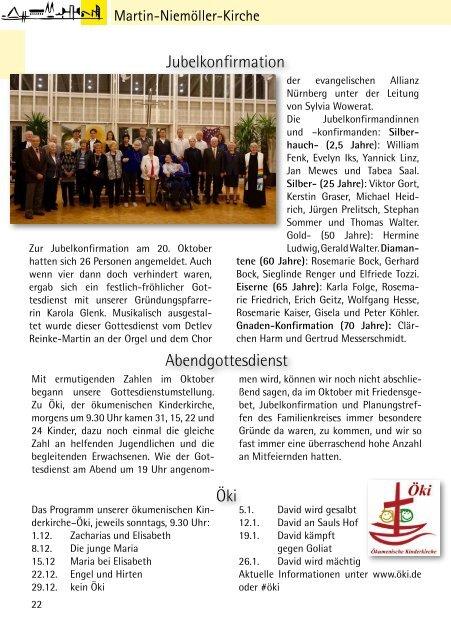 Gemeindebriefseiten MNK Dezember 2019 und Januar 2020