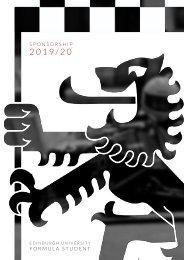 Sponsorship Brochure 2019-20