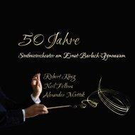 Festschrift - 50 Jahre Sinfonieorchester am EBG