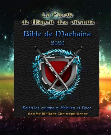 La Sainte Bible de Machaira 2020