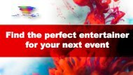 Find the perfect entertainer for your next event (1)
