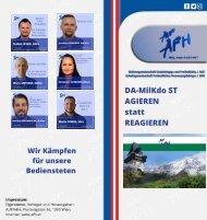 Ihre Personalvertreter der AFH im DA-MilKdo ST