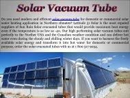 Solar Vacuum Tube For Sale