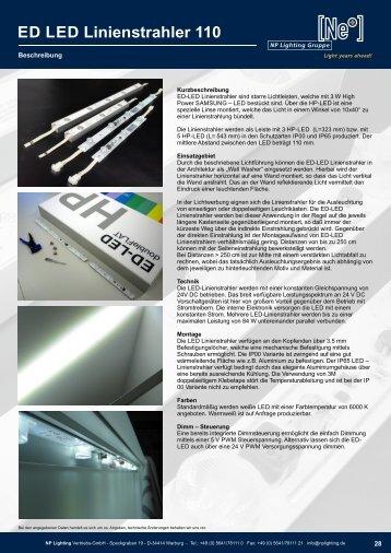 ED-LED Linienstrahler 110  - (Kantenstrahler/ Edge Lighting LED Modules) - NP LIGHTING