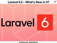 Laravel 6.5 – What's New in it?