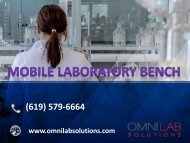 Mobile Laboratory Bench for mass spectrometers design by OMNI Lab Solutions