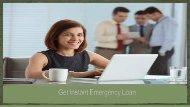 Get Instant Emergency Loan
