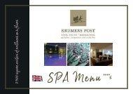 Krumers Post | SPA Menu | English