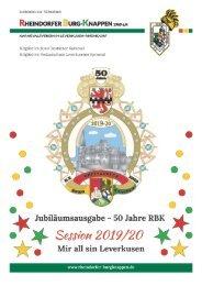 Rheindorfer Burgknappen - Sessionsheft 2019/20