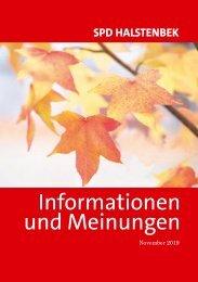 SPD Ortsverein Halstenbek – November  2019