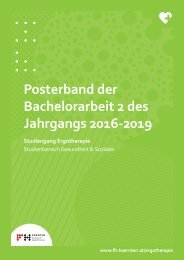 Posterband der Bachelorarbeit 2 des Jahrgangs 2016-2019