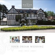 The Manor Elstree Wedding Brochure