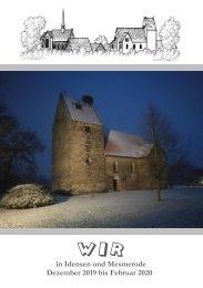 Gemeindebrief WIR - Dezember 2019 bis Februar 2020