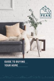 Peak Properties Buyers Guide