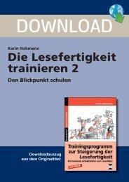 Karin Hohmann Die Lesefertigkeit trainieren 2 Den ... - FORREFS
