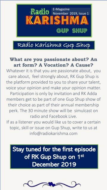 RK ADDA newsletter 11 November issue