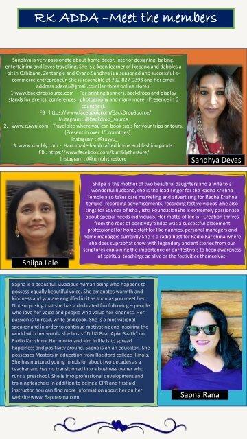 RK ADDA newsletter 11 November issue