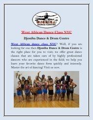 Best West African Dance Class NYC | Djoniba Dance & Drum Centre