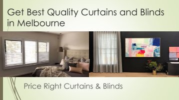 Get Best Quality Curtains and Blinds in Melbourne