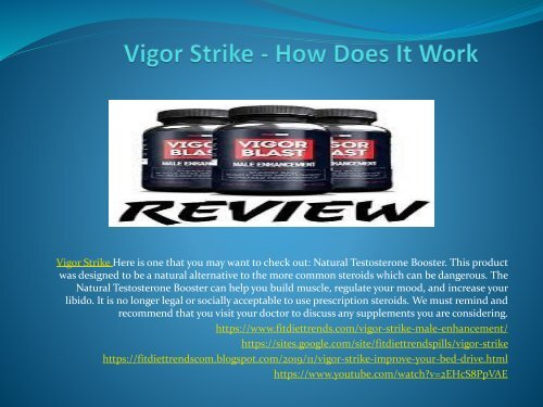 Vigor Strike  - Improve Your Bed Drive