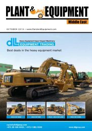 Plant & Equipment | Middle East | October 2019 Edition