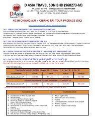 Chiang Mai Tour Package - Elephant Safari Tour, Hmong Village, National Park Tour - D Asia Travels