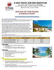 Koh Lipe Tour Package - Bundhaya Resort, 4 Snorkelling Points Exclusive - D Asia Travels