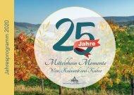 Mittelrhein Momente - Jahresprogramm 2020