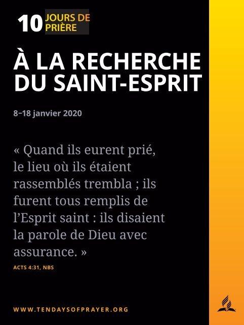 10 jours de prière 2020 - Livret d'accompagnement