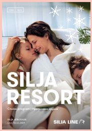 Cruise Program Silja Serenade ENG&RUS | 1.12.–31.12.2019