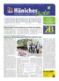Hänicher Bote | November-Ausgabe 2019