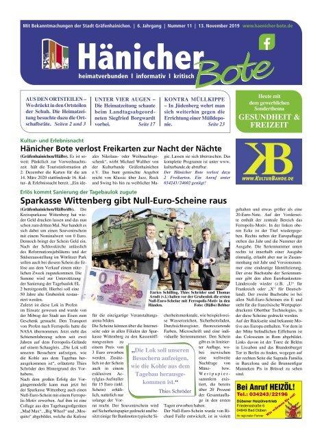 Hänicher Bote   November-Ausgabe 2019