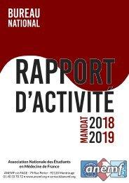 Rapport d'activité du Bureau National 2018-2019 Final
