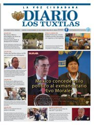 Edición de Diario los Tuxtlas del día 12 de Noviembre de 2019
