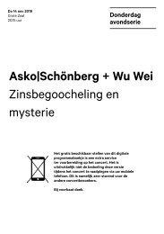2019 11 14 Asko|Schönberg + Wu Wei