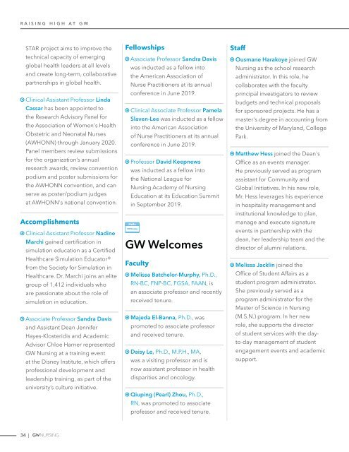 GW Nursing Magazine Fall 2019