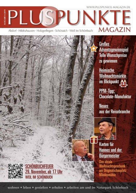 Pluspunkte-Magazin Noevmber 2019