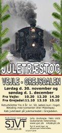 FLYER | Juletræstog | Vejle - Grejsdalen | 30. nov. - 1. dec. 2019 | SYDJYLLANDS VETERANTOG
