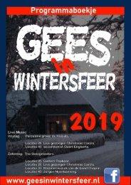 Wintersfeer in Gees programmaboekje 2019