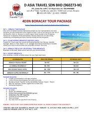 Philippines Tour Packages- Boracay, Cebu, Oslob, El Nido, Puerto Princesa Exclusive- D Asia Travels