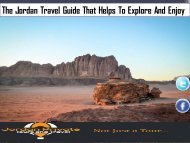 The Jordan Travel Guide That Helps To Explore And Enjoy