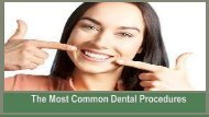 The Most Common Dental Procedures