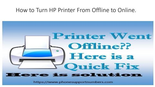 How to Turn HP Printer From Offline to Online