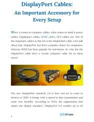 DisplayPort Cables An Important Accessory for Every Setup