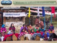 Lifetime Bhutan Festival Tour