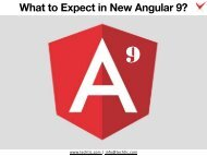 What to Expect in New Angular 9